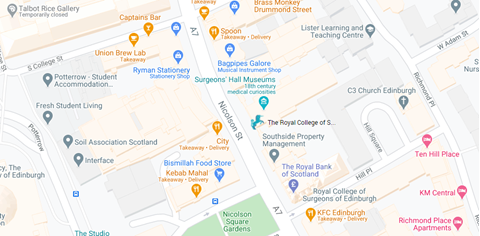 RCSEd Birmingham - click for a larger map