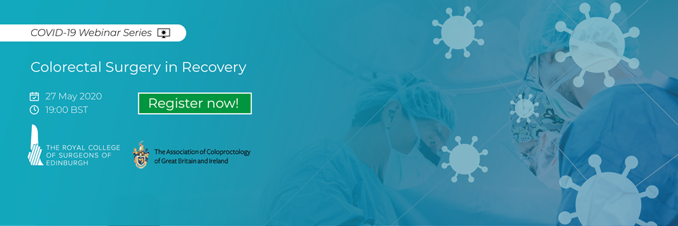 Tune in for our latest webinar -  Colorectal Surgery in Recovery